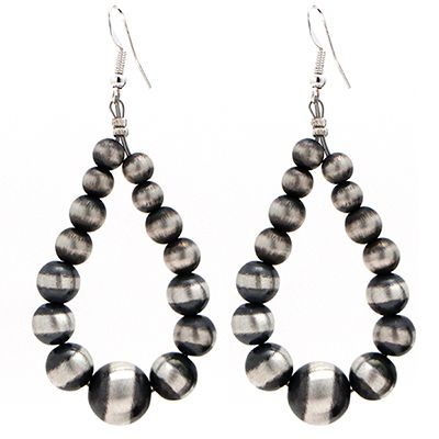 Large Navajo Pearl Earrings at Maverick Western Wear