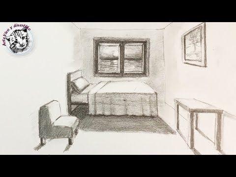 Como Dibujar Una Habitacion En Perspectiva De Un Punto Muy Facil Y Paso A Paso Yo Perspectiva De Un Punto Dibujos De Habitaciones Como Dibujar En Perspectiva