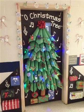 Christmas Door Decorations For School Bing Images