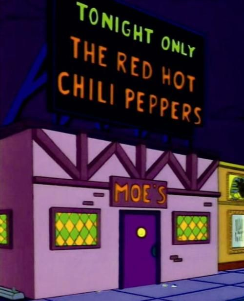Red Hot Chili Peppers at live in Moe's