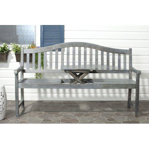 Namboodri Wooden Bench Sol 72 Outdoor Colour Ash Grey Wooden