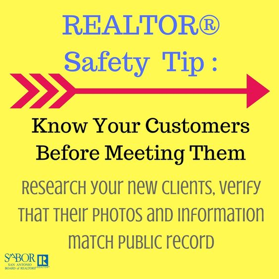 Make sure you get to know your clients before meeting up with them. Realtor safety is the most important part of the business!