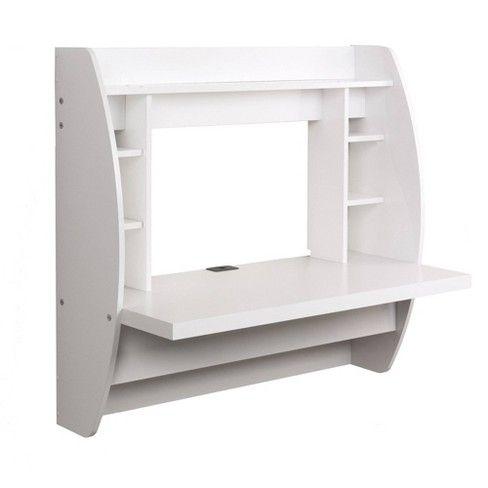 Floating Desk With Storage White Prepac Prepac Floating Desk White Floating Desk Floating Desk