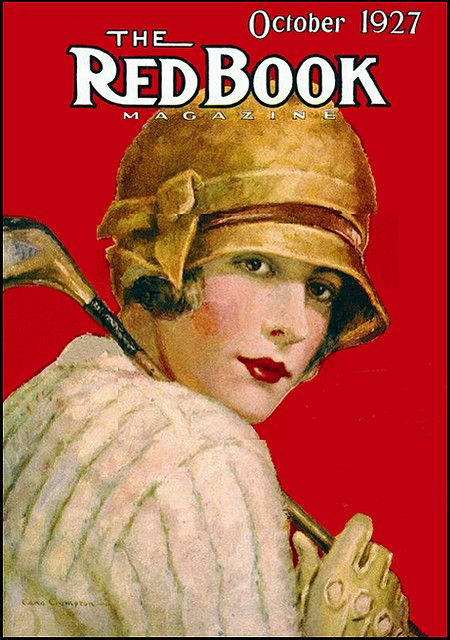 """The Redbook Golfer"" magazine cover - October 1927"