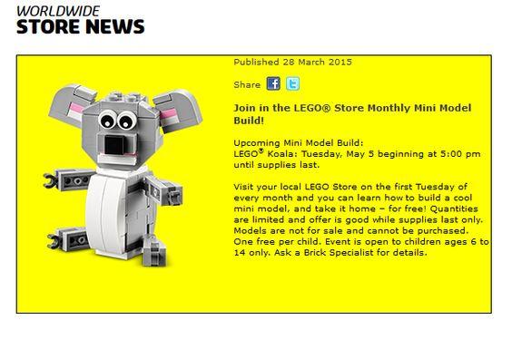 LEGO: GRATIS Koala Muñequito! Este 5/5!