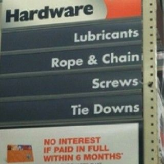 this is why guys like home depot. built in freaky section.