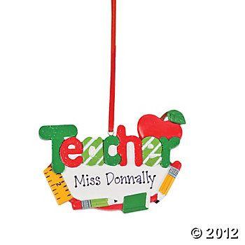 "Personalized ""Teacher"" Ornament"
