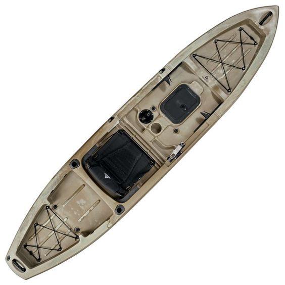 Ascend 174 Fs12t Sit On Top Angler Kayak Desert Storm