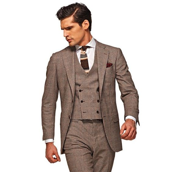 The new three-piece suit with a double-breasted vest for #FW13