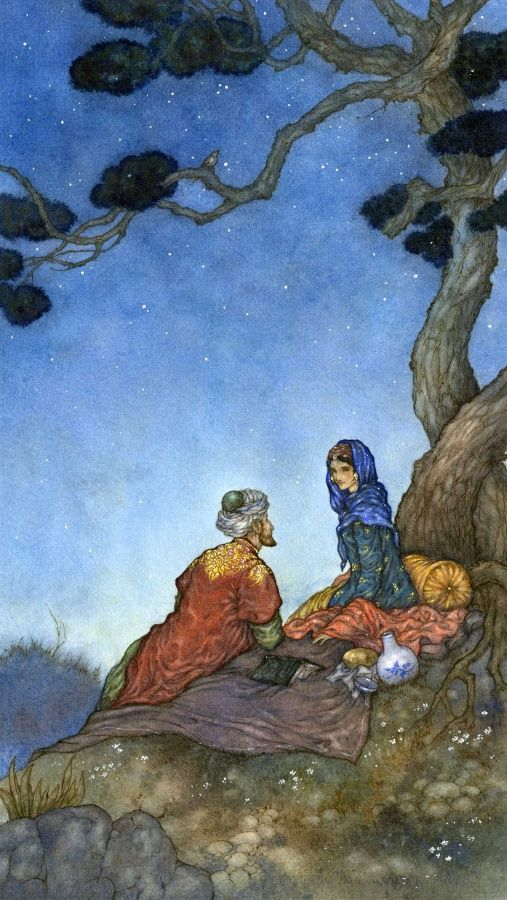 Niroot Puttapipat for Rubaiyat of Omar Khayyam - this illustrator takes my breath away. Sesquicentenary edition of Edward FitzGerald's translation of the Rubaiyat of Omar Khayyam, published by the Folio Society, November, 2009, and limited to 1,000 copies