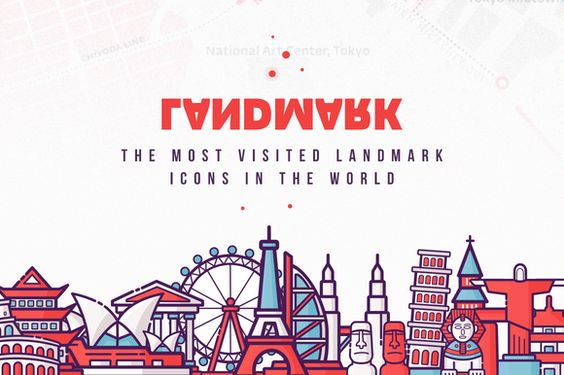 Fabricons Landmark Collection  by Fabricons on @creativemarket