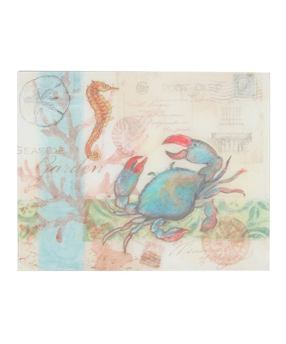 This Seaside Cutting Board by CounterArt is perfect! #zulilyfinds