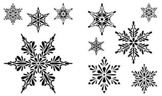 Cedar Canyon Textiles Stencils: Snowflakes