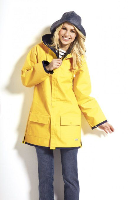 Yellow Sailor Rain Jacket Nautical Fashion: Amazon.co.uk: Sports