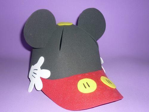 Moldes Para Lazos De Foamy: Moldes Foamy Gorras De Mickey Mouse - Imagui
