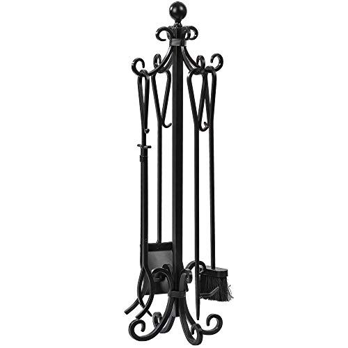 5 Pieces Scroll Fireplace Tools Set Black Cast Iron Fire Https Www Amazon Com Dp B01nh0qnjo Ref Cm Sw R Fireplace Tool Set Fireplace Tools Fire Pit Stand 5 piece fireplace tool set