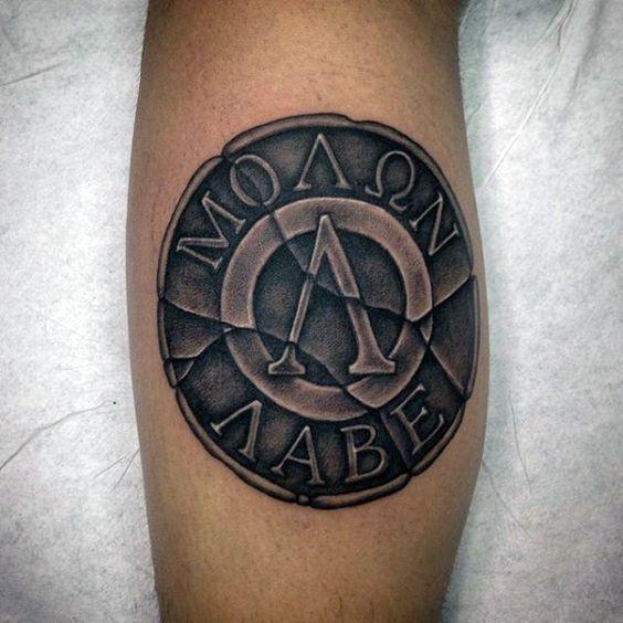 30 molon labe tattoo designs for men tattoos for men