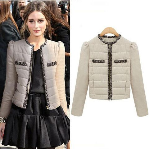 Olivia Palermo Beige Short Jacket | Celebrity Jackets & Coats ...