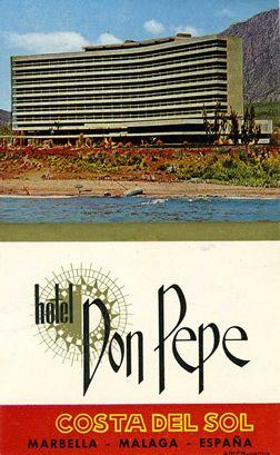 """Hotel Don Pepe - Costa Del Sol Marbella - Malaga  - 1960""""s"""