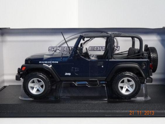 Camioneta colección Jeep Wrangler Rubicon color Azul. #RegalosParaEllos #RegalosNavidad