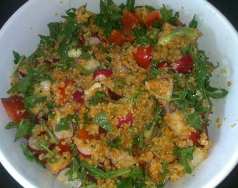 ♥ Skinfood: Veganer Linsen-Hirse-Salat für schöne Haut ♥ #vegan #beauty