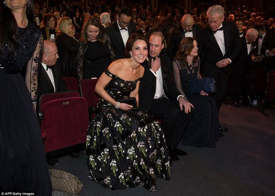 Best seats in the house: Kate and Wills naturally had the hottest seats in the room: