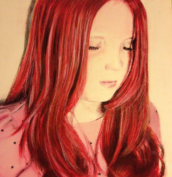 Little woman (Ireland) Pastels Drawing / Dibujo en Tizas Pastel