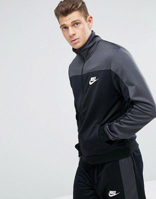 Irradiar Vaca Pensamiento  Nike   Conjunto de chándal estilo retro de punto de poliéster en gris  861774-060 de Nike   Estilo retro, Chandal, Nike