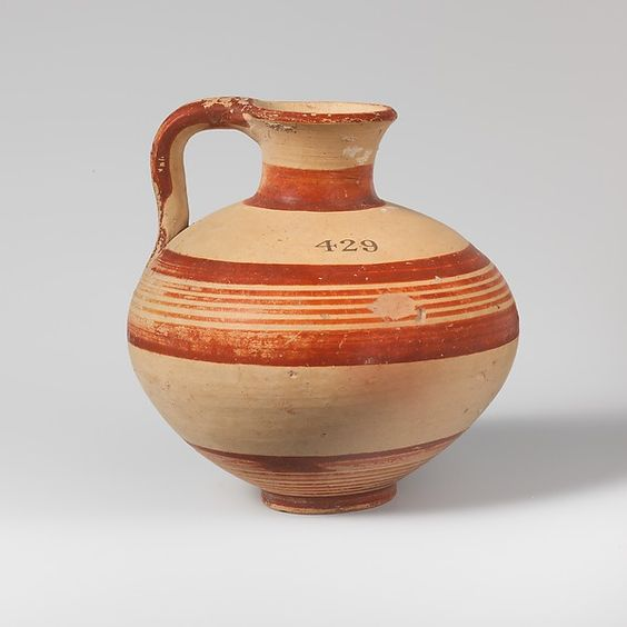 Terracotta jug. Mycenaean, Late Bronze Age, ca. 1600-1050 B.C.