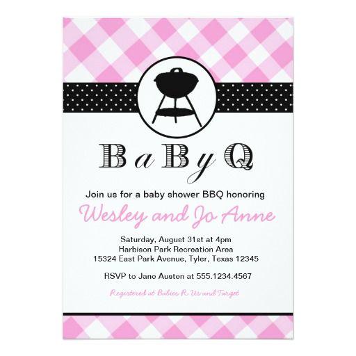 babyq bbq baby shower invitation couples girl pink | couples baby, Baby shower invitations