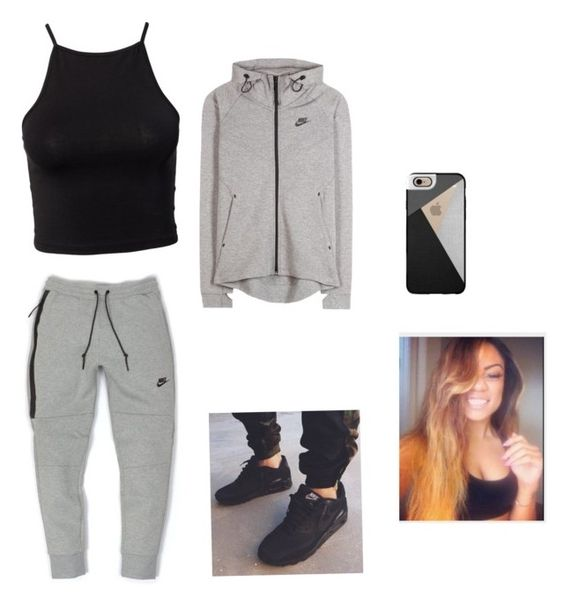 """""""Untitled #79"""" by ttayomo2 ❤ liked on Polyvore featuring NLY Trend, Casetify and NIKE"""