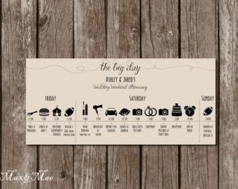Wedding itineraries, Timeline and Wedding day timeline on Pinterest
