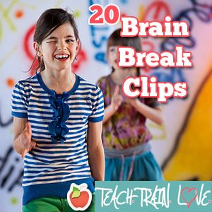 20 Brain Break clips from Teach.Train.Love (Best part- She put them through a student-friendly filter so no images or text will pop up like they do on YouTube!)