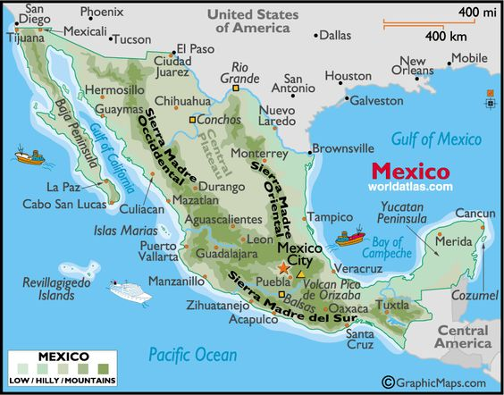 Maps travel tips for best beachesvacation area spots including – Map of Mexico Acapulco