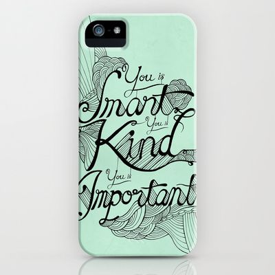 Smart. Kind. Important. iPhone Case by David Stanfield - $35.00
