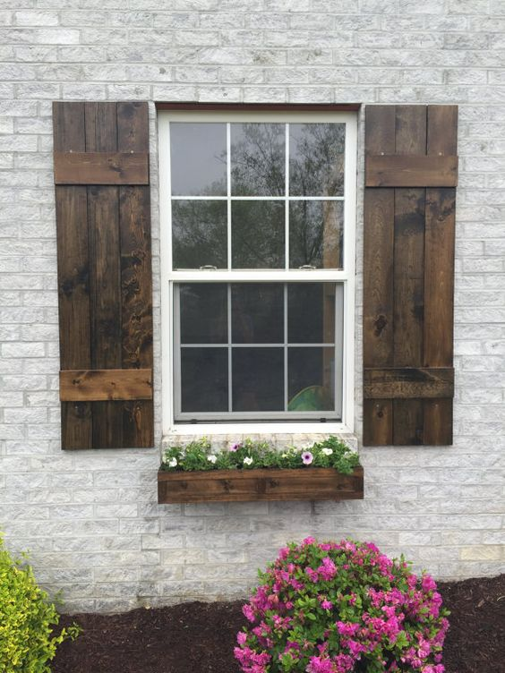 ** Farmhouse Board and batten Shutters ** ~ A perfect way to add curb appeal to your home for a great price! : ) ~ Listing is for One pair = 2: