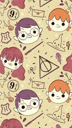 Chibi Harry Potter F Gatito Para Colorear Fondo De Pantalla Animado Harry Potter Fondos De Pantalla