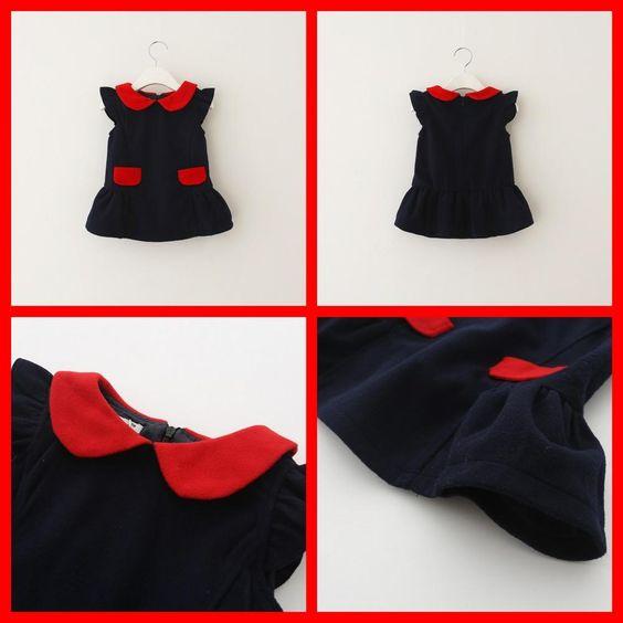 2015 Kid Girls Patchwork Wool Blend Fall Winter Dresses Sleeveless Sweet Princess Pocket Ruffles Warm Dresses Western Fashion Party Dresses from Smartmart,$62.02 | DHgate.com