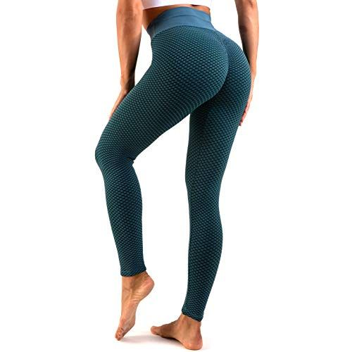 Leggings Sport Femmes Pantalons Yoga Fitness Gym Taille Haute Slim Fit S-XL Sunenjoy