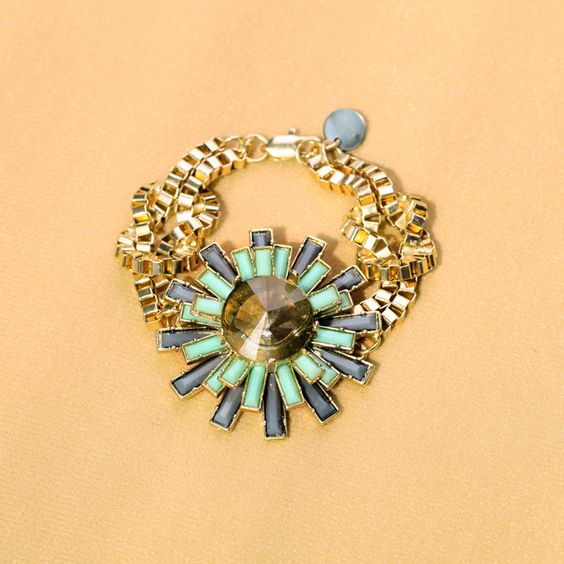 Crystal Flower Statement Necklace - matching necklace available