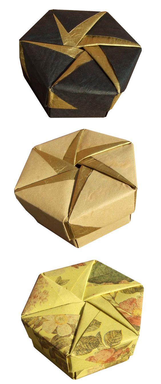 origami maniacs tomoko fuse s origami hexagonal box by. Black Bedroom Furniture Sets. Home Design Ideas