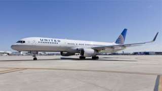 Image copyright                  United Airlines                                                     Two airline pilots were arrested on suspicion of being under the influence of alcohol as they prepared to fly from Glasgow Airport to New York. The United Airlines pilots, aged 35 and 45, were detained by police ahead of the 09:00 flight on Saturday. Their jet, which was headed for Newark Airport, was carrying 141 passengers. It eventually too