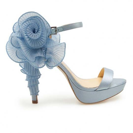 something blue wedding shoes! - Hint: if you are crafty you could actually DIY this. (wire ribbon)