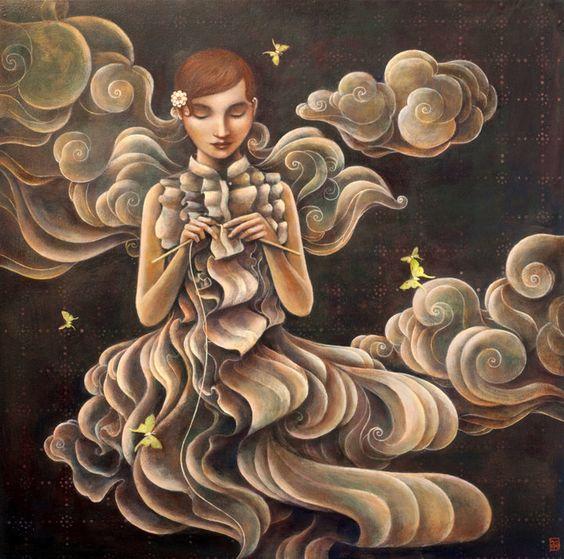 Huynh Duy 1975   vietnamita simbolista y surrealista pintor