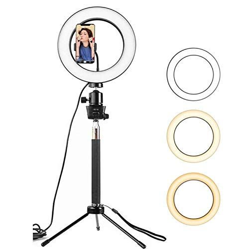 Selfie Ring Light Sinbadteck Dimmable Led Camera Ringlight W Tripod Stand Phone Holder For Live Stream Makeup You Selfie Ring Light Led Ring Light Led Ring