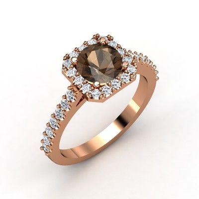 """AMAZING. Smoky quartz and diamond. It's even named """"Adele Ring!"""" Gemvara"""