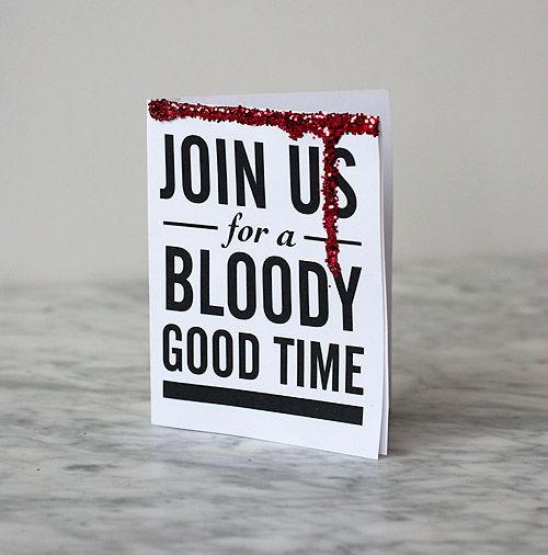 Print off these ghoulish invitations for your next Halloween party! Free printables!