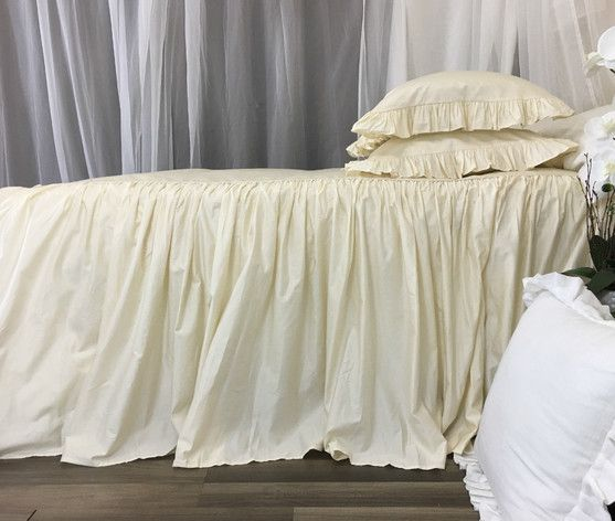 Ivory Cotton Bedspread 100 Pima Cotton Dress Up Your Bed