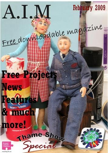 Artists In Miniature online magazine.  I LOVE this magazine..packed full of ideas,inspirations, and a few tutorials in each edition!