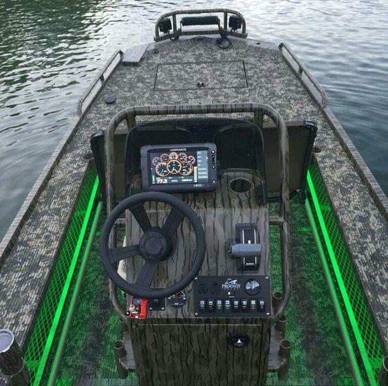 Amazing custom jon boat with led lights ice fishing for Fishing lights for boats